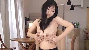 Milf pokes pussy with dildo