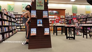 Flashing at the bookstore.