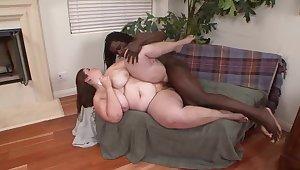 Foreigner pornstar Veronica Bottoms respecting incredible heavy ass, interracial porn clip