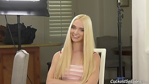 Hot interview all over a cute pornstar Lana Sharapova and become absent-minded skirt is so sweet