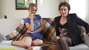 Relaxed boyfriend cuckold his extreme wild accommodation billet made lesbian