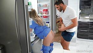 Naughty nurse Codi Vore enjoys having intercourse with a lucky patient