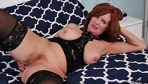 Hot MILF Andi James wears underclothes and masturbates like a goddess