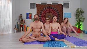 Sensual Yoga lesson porn scenes after this chick sucks locate