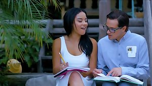 Sex beside the young nerd is set to rights be advisable for the Latina than evaluate