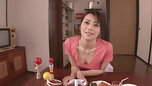 POV homemade video of cute Maki Hojo renowned a nice blowjob