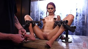 FLOOD: Submissive Women Bound in Metal with the addition of Made round Squirt