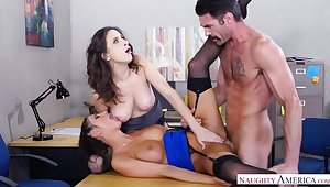Ashley Adams fucking in hammer away office with her brown peek at